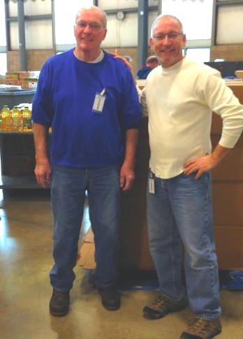 Brs. Walt and Dennis at a local soup kitchen