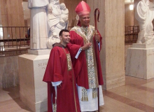 Br. Manuel and the ordaining bishop